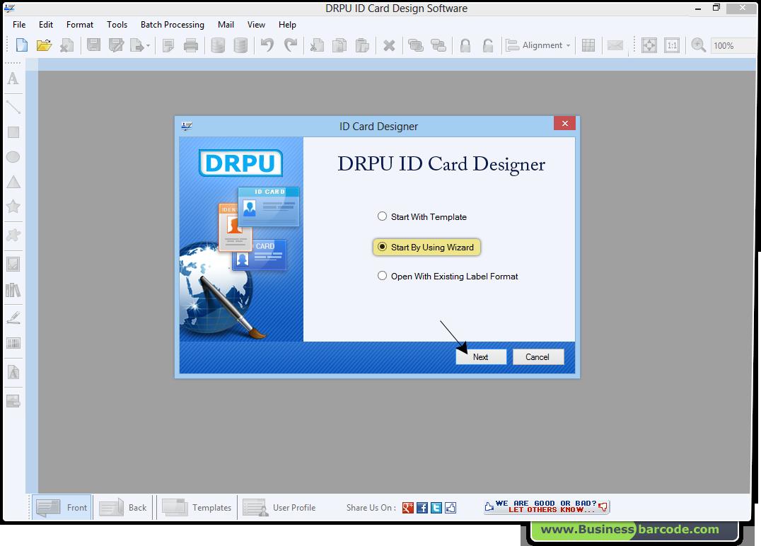 id card maker software screenshots businessbarcode